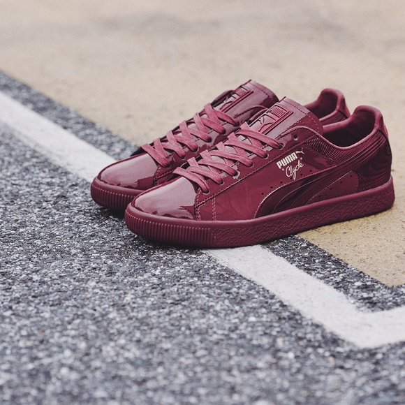 separation shoes f38ac bd9fd New Puma Clyde Wraith Cordovan Burgundy